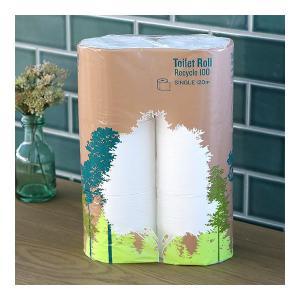 2倍巻 トイレットペーパー 6ロール入 再生紙 ...の商品画像