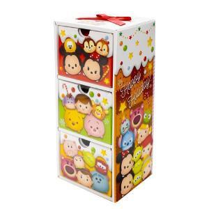松風屋 クリスマス ディズニー ツムツム 3段お菓子ボックス 1個