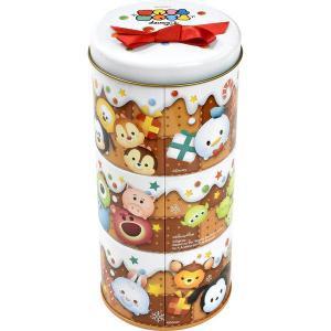 松風屋 クリスマス ディズニー ツムツム 3段お菓子缶 1個