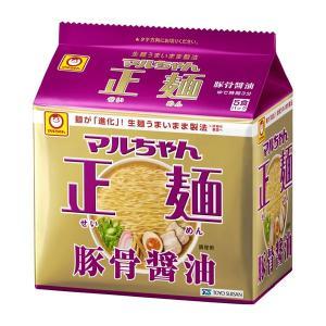 東洋水産 マルちゃん正麺 豚骨醤油 5食パック 1袋|y-lohaco