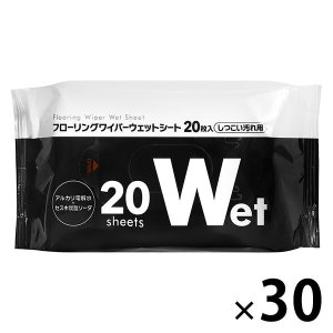 ストリックスデザイン フローリングワイパーシート ウェットしつこい汚れ 1箱(600枚:20枚入×30パック)レギュラーサイズ用ウェット y-lohaco