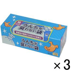 うんちが臭わない袋 BOS ペット用 Mサイズ 90枚 3箱 クリロン化成