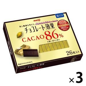 明治 チョコレート効果カカオ86% 26枚入 3箱