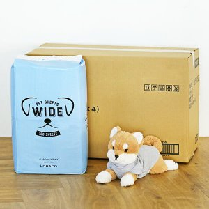 ロハコ限定 箱売り ペットシーツ ワイド 薄型(1回取り替えタイプ)100枚 4袋