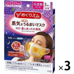 アウトレット めぐりズム 蒸気でホットうるおいマスク ほのかなラベンダーミントの香り 小さめ 1セット(9枚:3枚入×3箱)3枚入 花王
