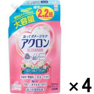 アウトレットライオン アクロンフローラルブーケの香りつめかえ用大サイズ 900mL 1セット(4個:1個×4)|y-lohaco