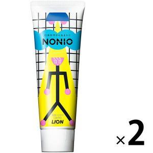 デザイン品 NONIO(ノニオ) ハミガキ ピュアリーミント 130g 1セット(2本) ライオン ...
