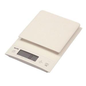 タニタ(TANITA) デジタルクッキングスケール 3kg ホワイト KD320 1個
