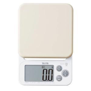 タニタ(TANITA) デジタルクッキングスケール 2kg ホワイト KJ212 1個 新生活
