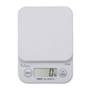 タニタ(TANITA) キッチンスケール 2kg ホワイト KF200 1個 計量器 クッキングスケール|LOHACO PayPayモール店