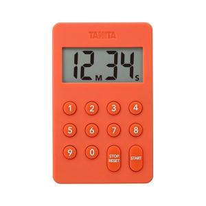 タニタ(TANITA) デジタルタイマー100分計 オレンジ TD415 1個|y-lohaco