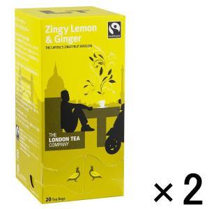 アウトレットロンドンティーカンパニー ジンギーレモン&ジンジャー ティーバッグ  1セット(20バッグ入×2箱)