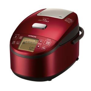 日立 圧力IH炊飯器 メタリックレッド RZ-AV100M R 5.5合炊き 打込鉄・釜 ふっくら御膳 圧力スチーム炊き 蒸気カット|y-lohaco