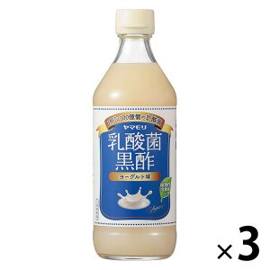 ヤマモリ 乳酸菌黒酢 ヨーグルト味 500ml 3本 LOHACO PayPayモール店