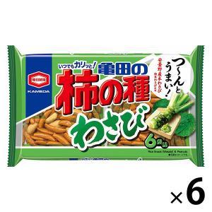 亀田製菓 亀田の柿の種わさび6袋詰 182g 1セット(6袋入)