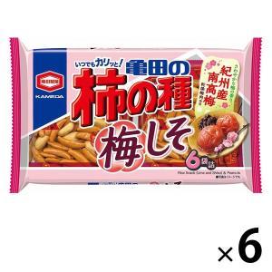 亀田製菓 亀田の柿の種梅しそ6袋詰 182g 1セット(6袋入)