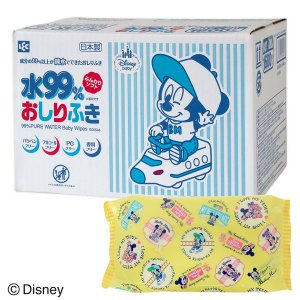 ディズニー ミッキー & ミニー おしりふき 80枚入×20個 レック