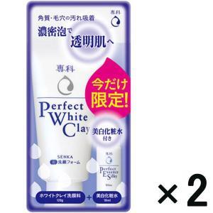 アウトレット専科 パーフェクトホワイトクレイn 120g+パーフェクトエッセンス シルキーホワイト(美白化粧水)18mL付 1セット(2パック入) 資生堂|y-lohaco