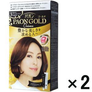 アウトレットヘンケルジャパン パオンゴールドヘアカラー クリームタイプ3 1セット(2個:1個×2)