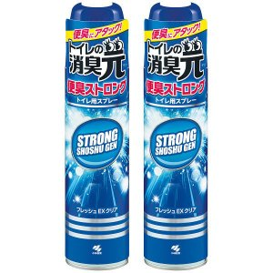 トイレの消臭元スプレー 便臭ストロング フレッシュEXクリア 消臭スプレー 280ml 1セット(2...