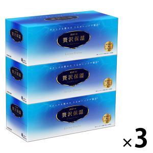 ティッシュペーパー 保湿 200組 (3箱入) 1セット(3パック) エリエール 贅沢保湿 大王製紙|y-lohaco