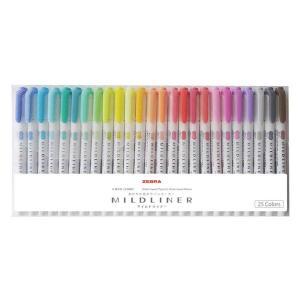 マイルドライナー 25色セット 蛍光ペン ツイン WKT7-25C ゼブラ|y-lohaco