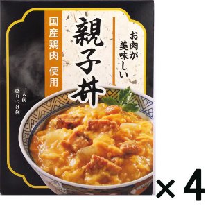 アウトレットマルハニチロ 国産鶏の親子丼 レトルト 1セット(210g×4個)|y-lohaco