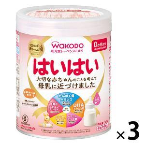 0ヵ月から WAKODO(和光堂) レーベンスミルク はいはい(大缶)810g 1セット(3缶) ア...