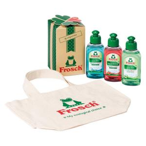 フロッシュ ミニトートギフト(ミニトートバッグ、食器用洗剤アロエヴェラ&ブラッドオレンジ、重曹プラス...