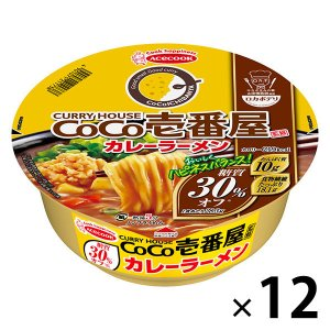 エースコック ロカボデリ CoCo壱番屋監修カレーラーメン 糖質オフ 12個
