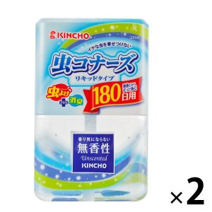 アウトレット KINCHO 虫コナーズ リキッドタイプ 180日用 無香性 400ml 1セット(2...