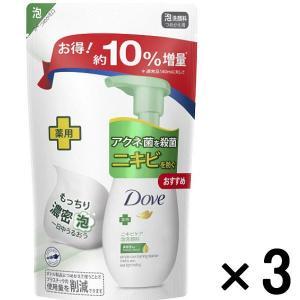 アウトレットダヴ(Dove) ニキビケア クリーミー泡洗顔料 つめかえ用 増量品 1セット(3個:155mL×3) ユニリーバ|y-lohaco