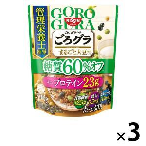 日清シスコ ごろっとグラノーラ まるごと大豆 糖質60%オフ 360g 1セット(3袋) シリアルの画像