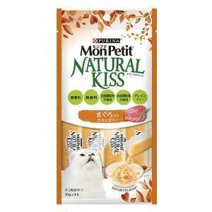 MonPetit(モンプチ)猫用 ナチュラルキッス まぐろ入りチキンゼリー 40g(10g×4本入) 1袋 ネスレ日本|y-lohaco