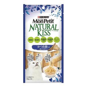 MonPetit(モンプチ)猫用 ナチュラルキッス かつお節入りまぐろゼリー 40g(10g×4本入) 1袋 ネスレ日本|y-lohaco