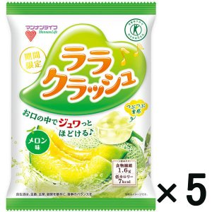 アウトレットマンナンライフ 蒟蒻畑 ララクラッシュ メロン味 特定保健用食品 1セット(8個入×5個)|y-lohaco