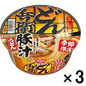 アウトレット日清食品 日清のどん兵衛 豚汁うどん 1セット(3個)|y-lohaco