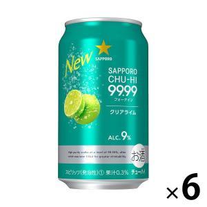 サッポロビール サッポロチューハイ 99.99(フォーナイン) クリアライム 350ml × 6缶|y-lohaco