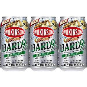 アサヒビール ウィルキンソン・ハードナイン 無糖ジンジャ缶 350ml × 3缶