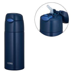 セール品 サーモス(THERMOS) 水筒 真空断熱ストローボトル 400ml ネイビー FHL-401 NVY ワンタッチボトル|LOHACO PayPayモール店