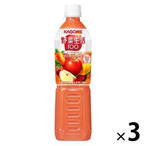 カゴメ 野菜生活100 アップルサラダ スマートPET 720ml 1セット(3本) 野菜ジュース LOHACO PayPayモール店