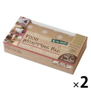 アウトレットフードラッピングバッグ (水玉ホワイト) FWB5202 1セット(2箱) 天満紙器|y-lohaco