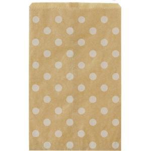 アウトレットフードラッピングバッグ (水玉ホワイト) FWB5202 1セット(2箱) 天満紙器|y-lohaco|02