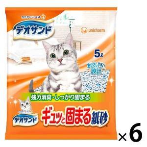箱売り デオサンド 紙砂 5L 6袋 ユニ・チャーム|LOHACO PayPayモール店