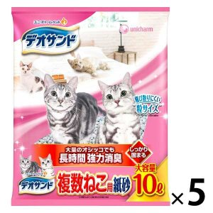 箱売り デオサンド 複数ねこ用 紙砂 10L 5袋 ユニ・チャーム