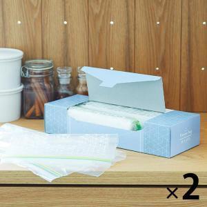 フリーザーバッグ M/Lアソート(マチ無し・冷蔵・冷凍対応)1セット(100枚:M/L各25枚入x2...
