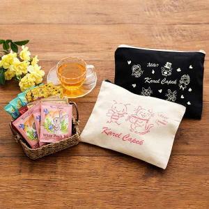 LOHACO限定カレルチャペック 春の福袋2019 限定デザイン生成りポーチ付き 1セット(15袋入:5種×3袋)
