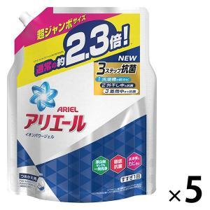 アリエール イオンパワージェル 詰め替え 超ジャンボ1.62kg 1セット(5個入) 洗濯洗剤 P&...