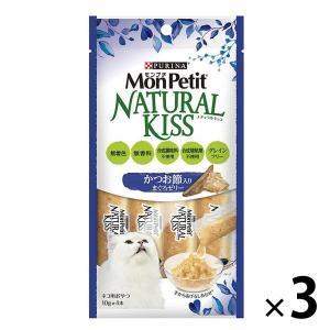 モンプチ(MonPetit) ナチュラルキッス かつお節入りまぐろゼリー 40g(10g×4本入)3袋 ネスレ日本|y-lohaco
