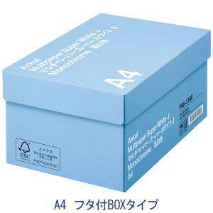 コピー用紙 マルチペーパー スーパーホワイトJ A4 1箱(5000枚:500枚入×10冊)フタ付き...